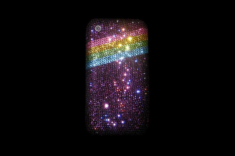 Apple iPhone Swarovski Dark Pink Rainbow LE